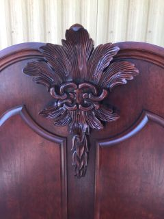 Gorgeous Mahogany carved Bed & Dresser