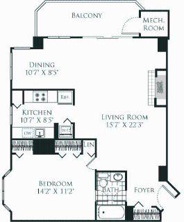 1 bedroom in Bethesda