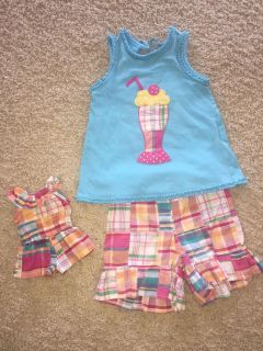 Kelly s kids outfit size 4/5 with matching 18 inch doll outfit