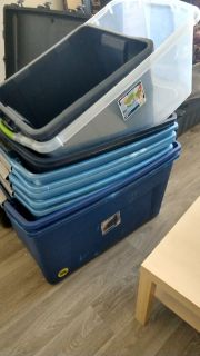 Large storage totes / moving cointainers - huge lot!