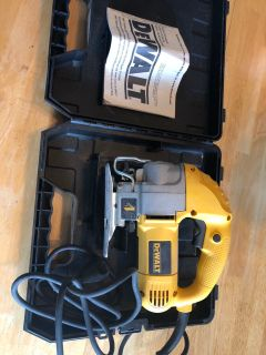 Corded Dewalt variable speed orbital jigsaw