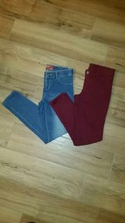 2 pair of size 10 jeggings/skinny jeans. Excellent condition!