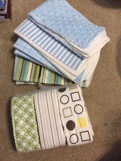 Burp cloths and swaddle blankets