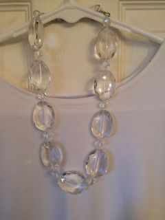Clear large gemstone necklace