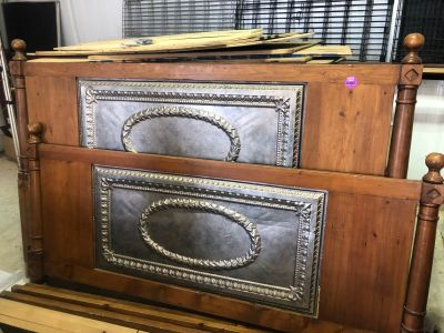 King sized bed solid wood with ceiling tiles