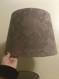Beige Lace Lampshade