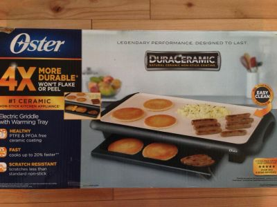 Oyster DuraCeramic electric griddle