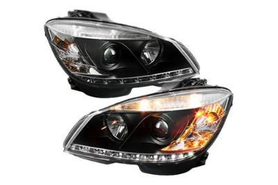 Sell Spyder MBW20408DRL Black Clear Projector Headlights Head Light w LEDs DRL motorcycle in Rowland Heights, California, US, for US $438.78