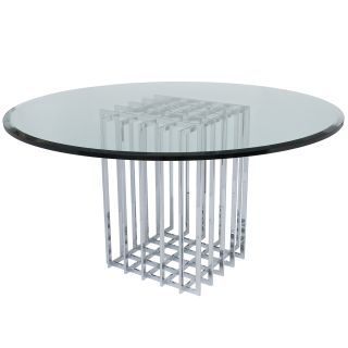 Pierre Cardin Chrome Cage Dining Table