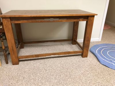 Estate/moving sale item. Solid wood table. 48 x 24 . 28 tall