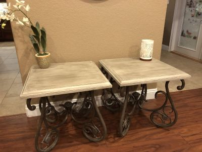 Rustic farmhouse side tables
