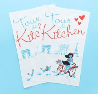 New French themed kitchen towel set