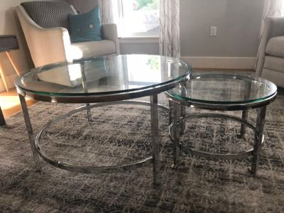 Brand new glass tables