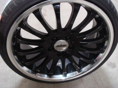 "Buy Jim Gainer 19"" Black Fin Type Wheel & Tires Package Audi & Mercedes 5X112 motorcycle in Rowland Heights, California, US, for US $799.00"