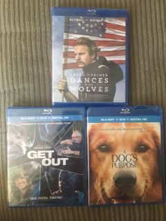 Brand new sealed Blue Ray DVDs $2 each or all for $5 Menifee