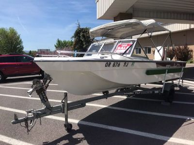1981 Lucraft boat with 60 hp Johnson motor and tilt trailer