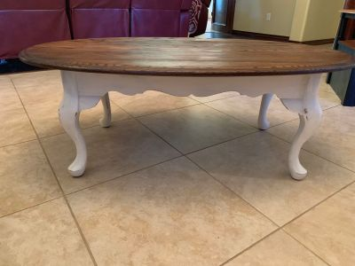 French country farmhouse coffee table
