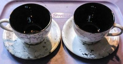 Set of 2 Oversized Mugs and Saucers