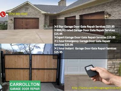 BBB/A1 rated Garage Door Gate Repair Services $25.95 75007 TX