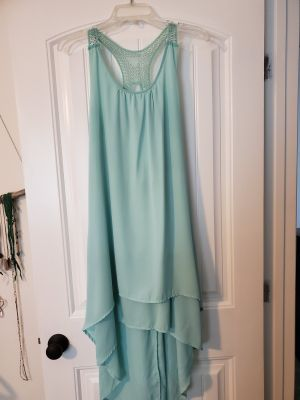 Asymmetrical Mint Green Boutique Dress
