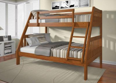 Twin over Full Wood Bunk Beds