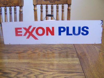 $35, Exxon Plus Pump or Rack Sign