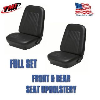 Buy 1967 & 1968 Camaro Covertible F/R Seat Upholstery Black Vinyl Made in US by TMI motorcycle in Los Angeles, California, United States, for US $279.79