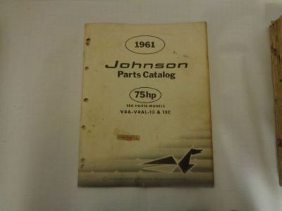 """Find 1961 JOHNSON PARTS CATALOG 75 """"A"""" HP MOTORS @@@CHECK THIS OUT@@@ motorcycle in Atlanta, Georgia, United States, for US $14.99"""