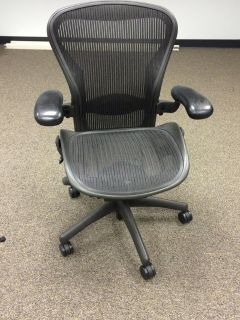 $499, Herman Miller Aeron Fully Adjustable Carbon Chair- Fully Loaded