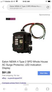Complete home surge protector