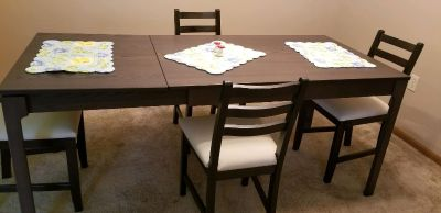 Brand new IKEA table and 4 padded tables