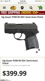 Want To Buy: Sig 290rs