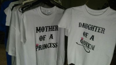 mother/daughter  princess/queen shirts