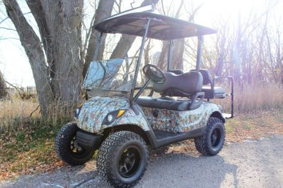 2013 Yamaha Drive Electric Golf Cart Car, Battery, Camo Camouflage