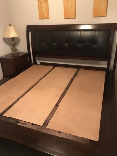 King bed and dresser
