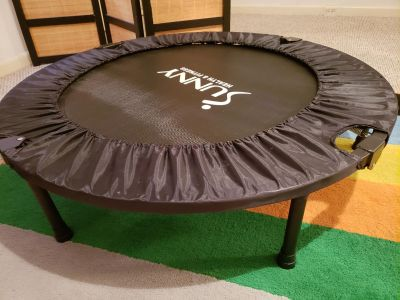 """40"""" foldable trampoline with bar"""