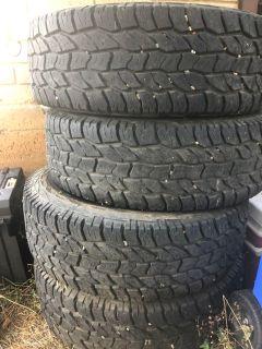 Cooper all terrain size 16 4 each tires