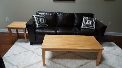 2 Light Oak Tables -- Sofa/cocktail and End Table