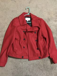 New never worn old navy red pea coat