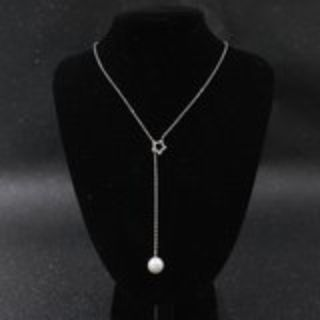 pearl & star lariat necklace