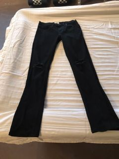The Rising Sun Mfg. Co. Black Destructed Slim Fit Jeans Size 28