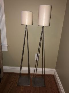 Set of 2 Candles stands with candles