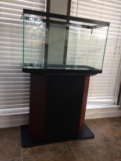 29 gallon aquarium and stand with storage compartment