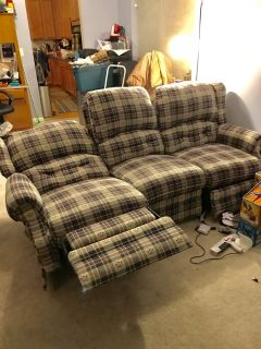 Recliner couch and loveseat REDUCED