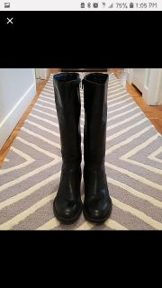 Born black leather riding boots!
