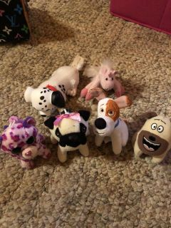 6 small stuffed animals $3.00 for all