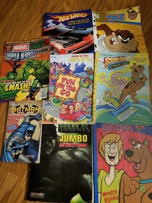 8 coloring & activity books