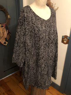 Catherine s Sz 5x 34/36 3/4 sleeve cotton top