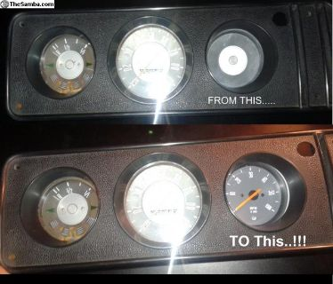 New Tachometer for BUS (1968-1979)- GREY