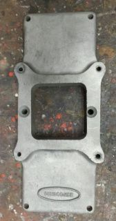 Sell DUNSCOMBE blower plate single quad carb plate top for hot rat rod nostalgia drag motorcycle in Berlin, Connecticut, United States, for US $356.00